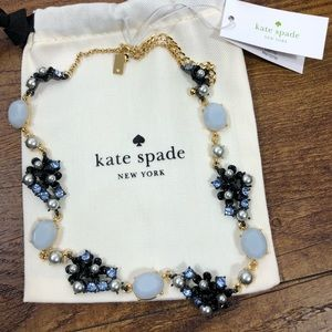 Kate Spade Blue and Black Blue sparkle necklace